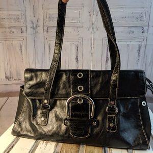 Franco Sarto purse Bag handbag tote black casual